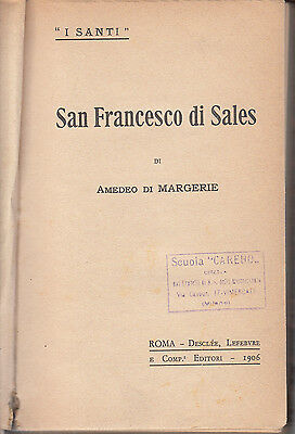 SAN FRANCESCO DI SALES di AMEDEO DI MARGERIE - ANNO 1906