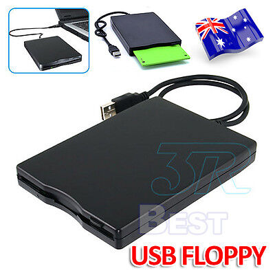 "3.5"" FDD USB Hard External Floppy Disk Drive 1.44MB For PC Laptop Win Mac AU"