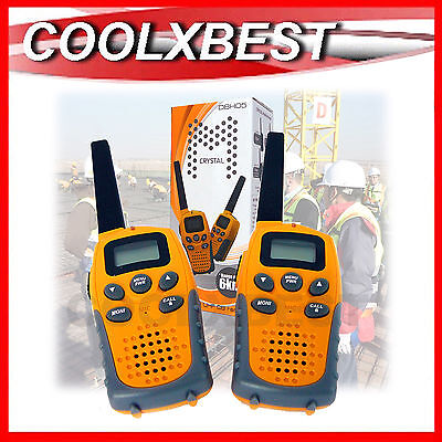 New 2 X Crystal Handheld Uhf Cb Radio 2 Way Walkie 0.5W 6Km Worksite Hiking