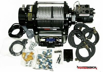 Best Hydraulic Winch 12/24V 15000 Lbs Powerwinch Brand ----- Complete Set -----