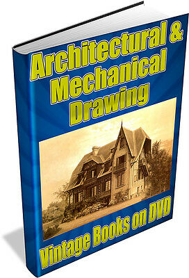 ARCHITECTURAL & MECHANICAL DRAWING 157 Vintage Books on DVD - engineering