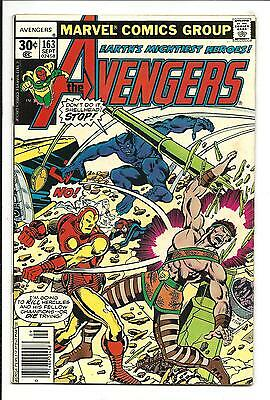 AVENGERS # 163 (vs. THE CHAMPIONS, SEPT 1977), FN/VF
