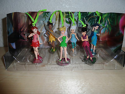 Disney Authentic Tinkerbell Periwinkle Fairy Christmas Ornaments Figure 7pc Set