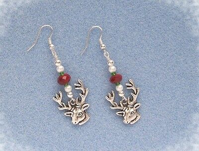 Rudolph The Reindeer ~  Christmas DIY Jewelry Earring Kit with Instructions