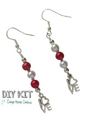 Lovely ~ Valentine Earring Jewelry Making Step by Step Instruction DIY Kit