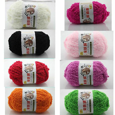 New LOT of 1 Skeins x 50g Thick Handcraft Colorful Knitting Wool Plush Baby Yarn
