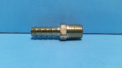Brass 5/16 ID Hose Barb 1/4 NPT Fitting Coupler Air Fluid Fuel Gas Liquid Water