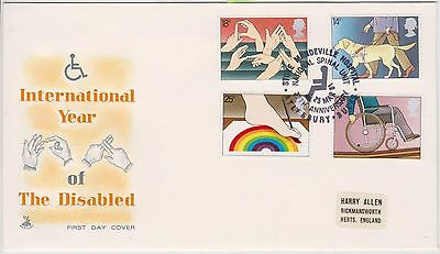 (JP-264) 1981 GB FDC 4set year of disabled people (264JE)