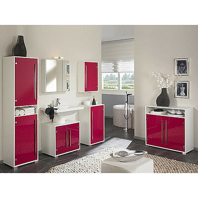 komplett badm bel set wei glas pink badezimmer. Black Bedroom Furniture Sets. Home Design Ideas