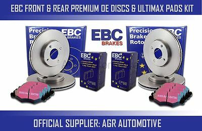 Ebc Front + Rear Discs And Pads For Toyota Corolla 1.6 Gt (Fwd) (Ae82) 1984-87