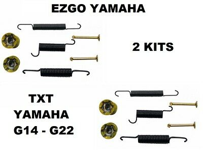 Yamaha Ezgo Txt Brake Shoe Bendix Spring Kit G14-G22  Gas + Electric Golf Carts