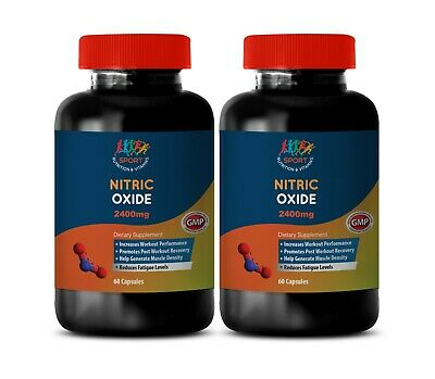 Nitric Oxide Dietary Supplement Muscle Builder & Fat Burner - 2400 - 2B 180Ct