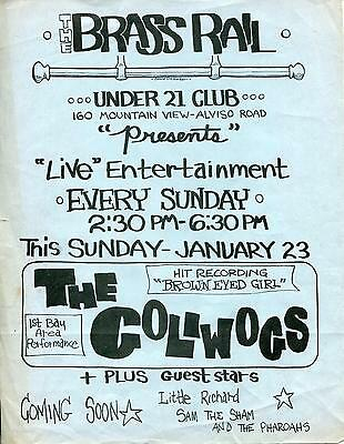 The Golliwogs - Pre - Creedence Clearwater Revival 1966 Concert Flyer / Handbill