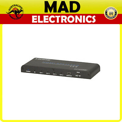 4 Way HDMI 2.0 UHD Splitter Compliant with HDMI2.0, HDCP2.2 and DVI1.0