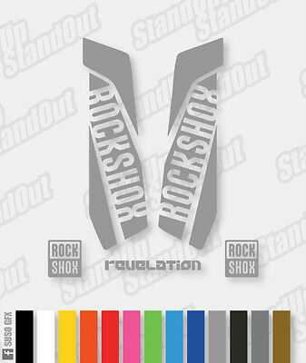 RockShox REVELATION 2015 2016 Style Decals Stickers - Custom/Fluorescent Colours