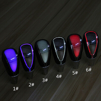 1pcs Car Auto Gear Shift Knob Blue/White/Red LED Touch Activated Manual Shifter