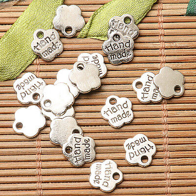 70pcs dark silver color Hand made lettering  charms  EF2700