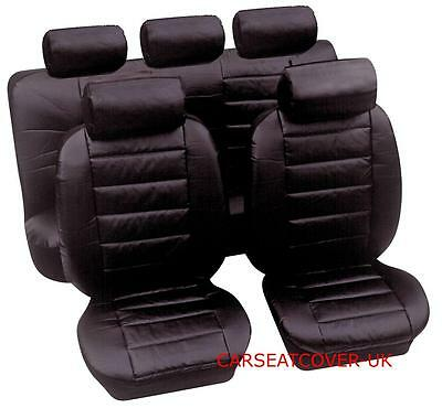 Vw Passat - Heavy Duty Uk Made Leather Look Car Seat Cover Full Set