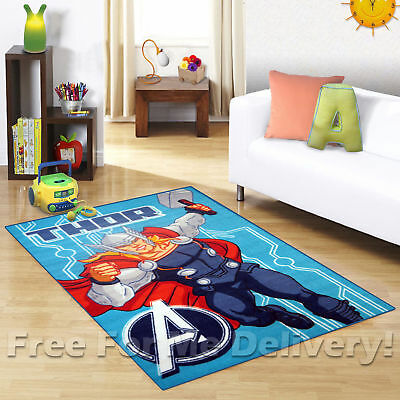 KIDS EXPRESS AVENGERS THOR FUN FLOOR RUG (XS) 100x150cm **FREE DELIVERY**