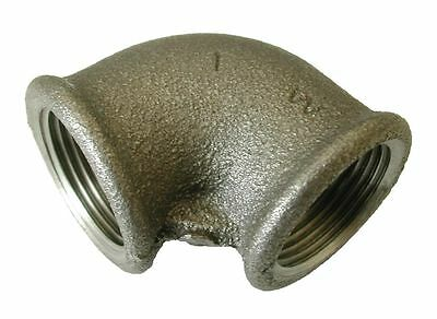 "1"" BSP Black Malleable Iron Female x Female Elbow Fitting"