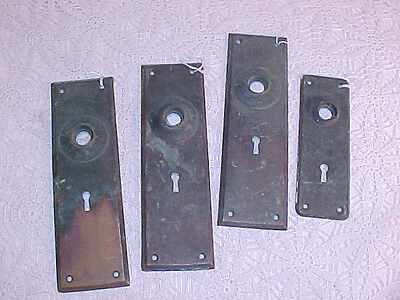 Antique Solid  Brass Backplates For Doorknobs