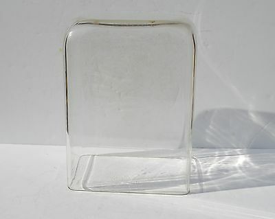 Antique Big Rectangle Glass Dome For Clock, Doll Made By The Pryex Company