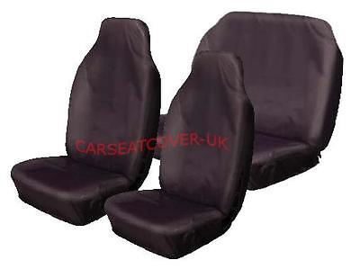 Ford Fusion  - Heavy Duty Black Waterproof Car Seat Covers - Full Set