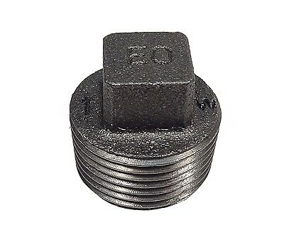 "1"" BSP Black Malleable Iron Plug 