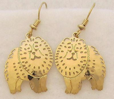 Chow  Chow Jewelry Gold Wire Earrings by Touchstone Dog Designs