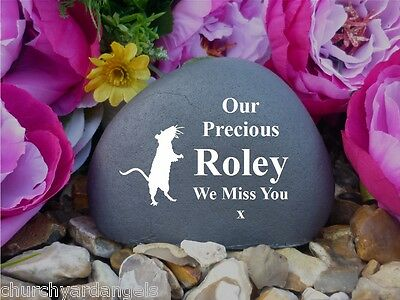 Pet Rat Memorial Pebble (Stone effect) - Personalised - Weatherproof