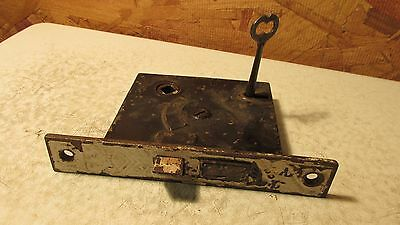 Antique Cast Iron Mortise Lock & Key  No. 5  Eastlake