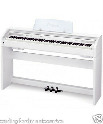 Casio PX-760WH White PRIVIA Pack Upgraded to an Adjustable Stool Digital Piano