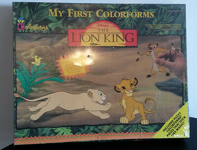Disney's THE LION KING My First Colorforms #2406 Large Play Set Simba SEALED New