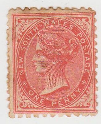 (JQ-147) 1871 NSW 1d red QVIC mint heavy hinged (G)