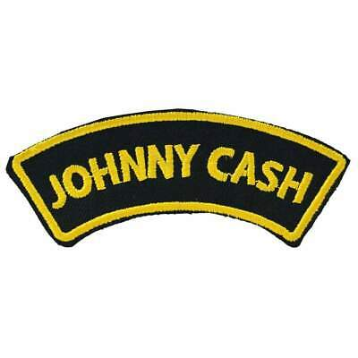 Johnny Cash Iron On Patch Retro Tattoo Rockabilly Punk Pin Up Country Music
