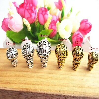 1Set--2Pcs--Tibet silver Mantra Buddhist Buddha Head Beads Finding-DIY