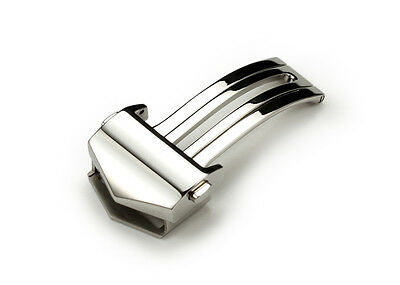 18mm Sliver Deployment Clasp Buckle For TAG Heuer Watch Band Monaco Carrera