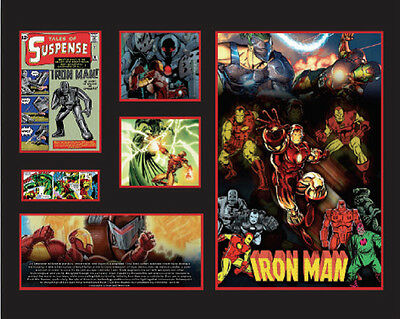 New Iron Man Comics Limited Edition Memorabilia Framed
