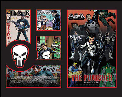New The Punisher Comics Limited Edition Memorabilia Framed