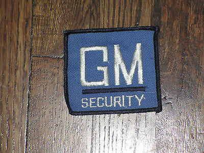 gm security patch, new old stock, 1960's, set of 2