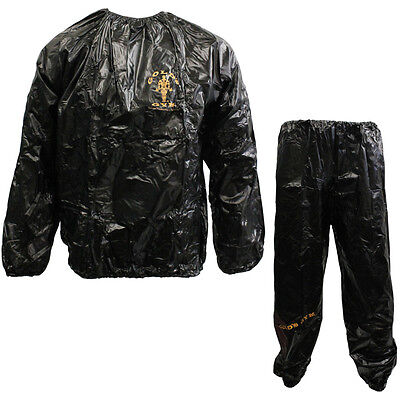 Golds Gym Vinyl Sweat Sauna Suit Weight Loss Slimming Fitness Gym Exercise