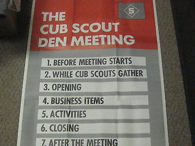 Cub Scout Posters, used for Training, 25 by 33, lot of 13     eb10