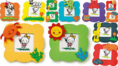 PICTURE FRAMES kids animals smiley faces set of photo frames NEW