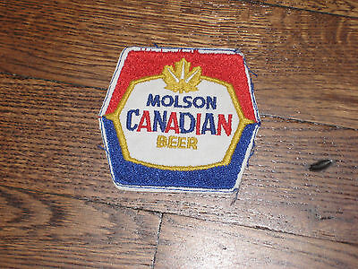 molson,canadian beer  new old stock, 60's,no border,red,white, blue ,yellow