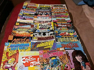 lot of 54 comics. large variety dc marvel vintage modern