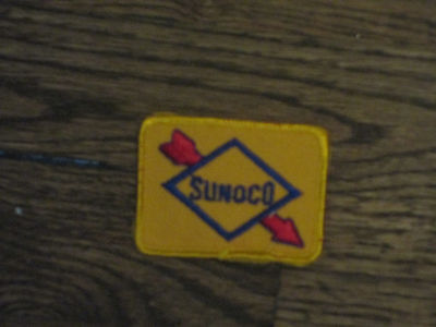 sunoco vintage  patch,70's,new old stock,  yellow  backround,rectangle