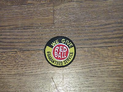 "trucking patch red ball motor freight ,nos.,60's,""we give guarnteed service"""