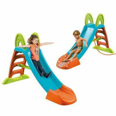 New Feber Children Curve Slide Plus with Water Connection Outdoor Pool Toy Fun