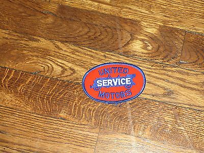"""united motors patch,""""service"""", new old stock, 1960's,set of 2"""