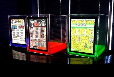 Acrylic Pull Tab Display case with LED Backlit display and lockable drawer